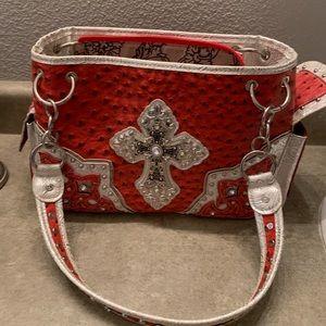 Cute red cross purse, like new